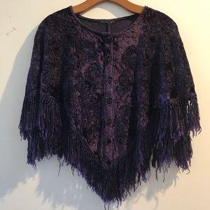 Velvet Purple Poncho🦄